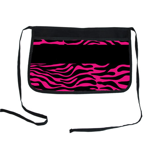 Pink Zebra Two-Pocket Custom Kolorcoat™ Server Apron