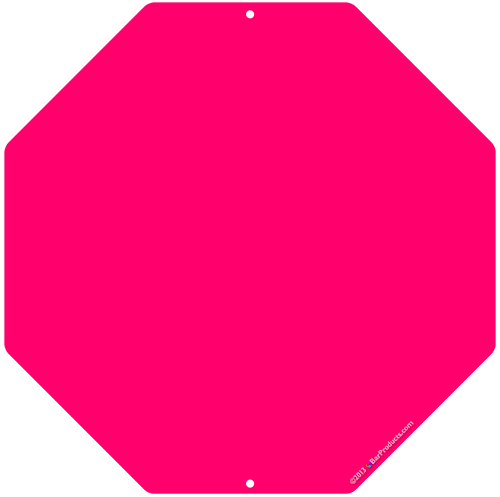 Kolorcoat™ Custom Octagon Metal Bar Sign - Pink