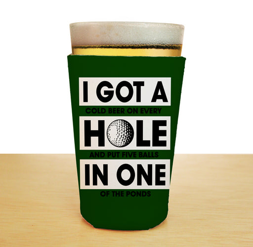 ADD YOUR NAME Pint Glass Cooler - Golf