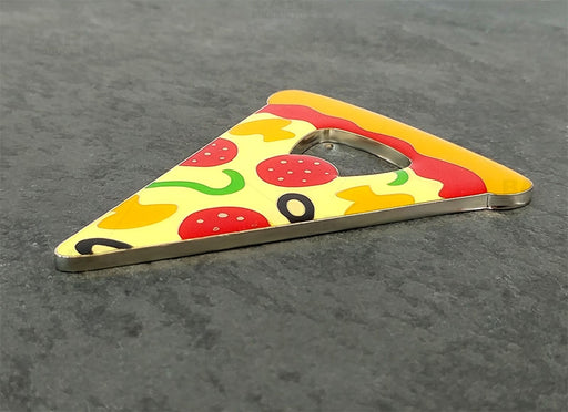 Pizza Shaped Bottle Opener - Metal