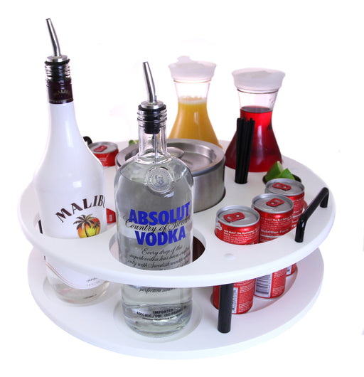18 inch Plastic Bottle Service Tray - Holds 2 Bottles