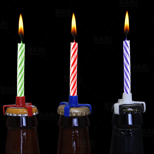 BarConic® Birthday Beer Candle Holders (Bag of 6)