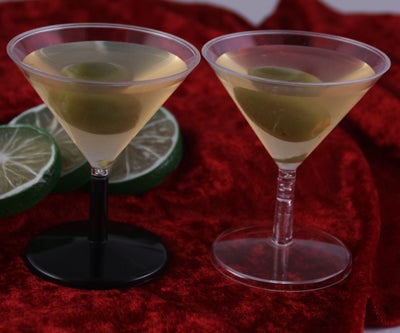 Mini Plastic martini shot glasses