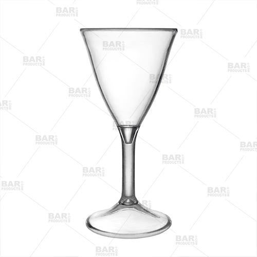 Plastic Martini Shot Glasses - 4 pack - Reusable