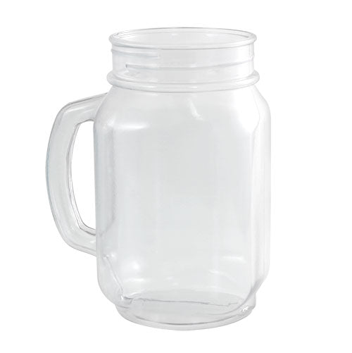 32oz Mason Jar with Handle - Plastic & Reusable