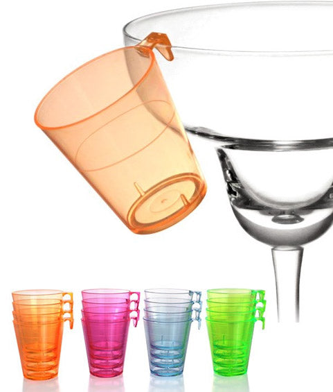 Barconic® 2oz Assorted Plastic Shot Glass with Hook