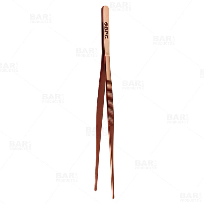 Olea™ Copper Plated Long Garnish Tongs