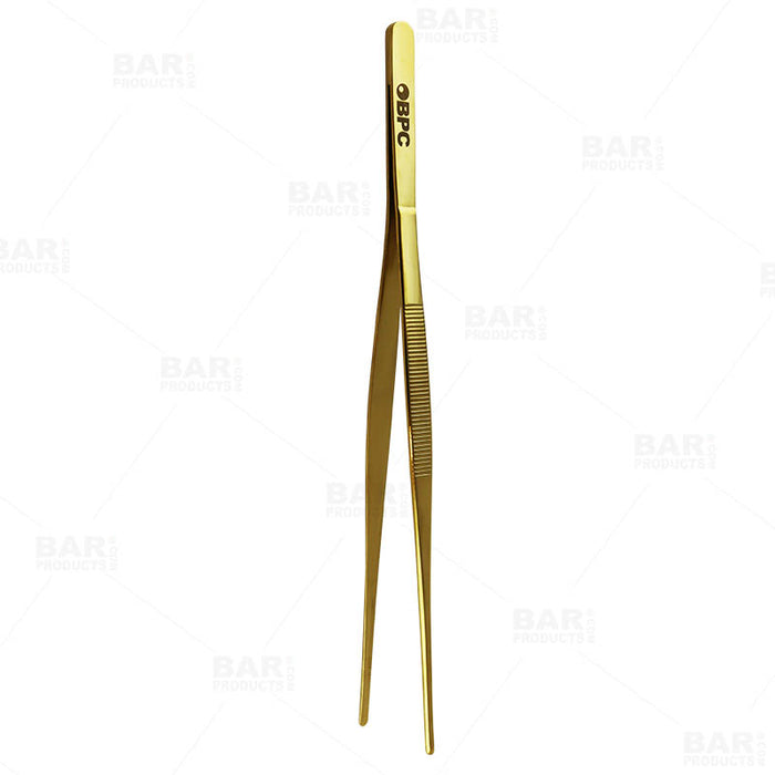 Olea™ Gold Plated Long Garnish Tongs
