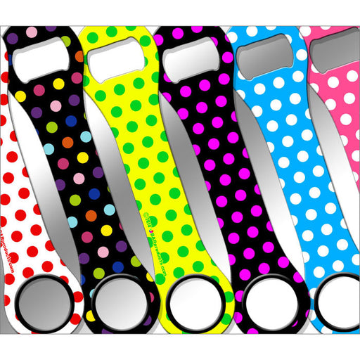 Kolorcoat™ Dog Bone Bottle Opener - Polka Dot Series