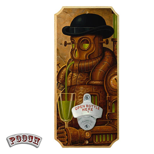 Absenth - Wood Plaque Wall Mounted Bottle Opener