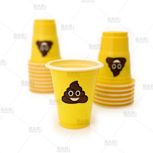 Poop Emoji Shot Plastic Cups - 1 oz - 20 pack