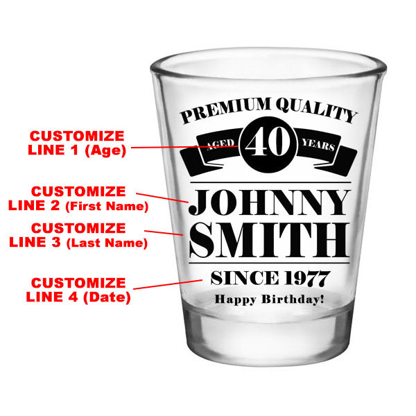 CUSTOMIZABLE - 1.75oz Clear Shot Glass - Premium Quality
