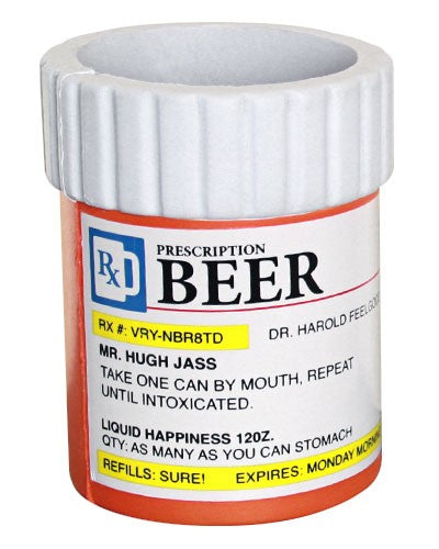 Funny Can Coozies - Prescription Bottle