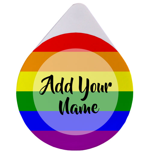 ADD YOUR NAME - Custom Glass Rimmer Lid - Pride