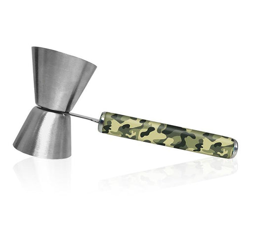 Jigger with Printed Handle Design - Camouflage - .75oz x 1.25oz