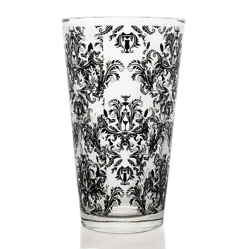 BarConic® Glassware - Mixing Glass - Black Cocktail Themed Damask - 16 ounce