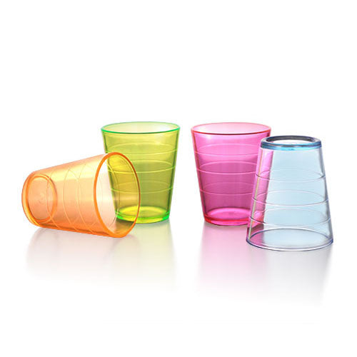 Barconic® 2oz Thick Assorted Plastic Shot Glass