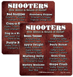 Coasters - Shooter Recipes