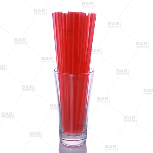 "BarConic® 8"" Straws - Red"