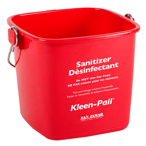 KP97RD Red 3 Qt. Kleen Sanitizing Pail