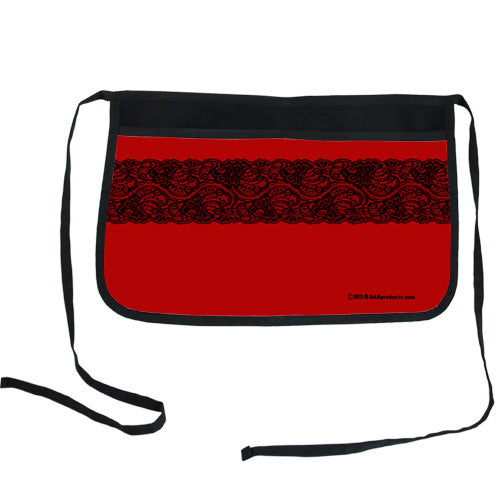 Red Lace Two-Pocket Custom Kolorcoat™ Server Apron