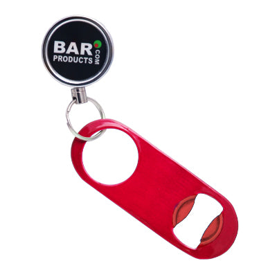 Mini Powder Coat Candy Red Speed Opener with Retractable Reel