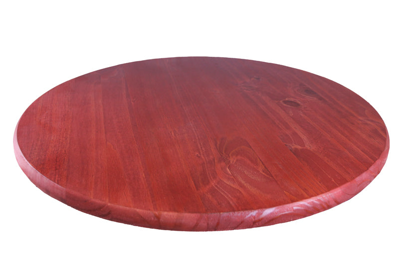 Red Wooden Bar Table Tops