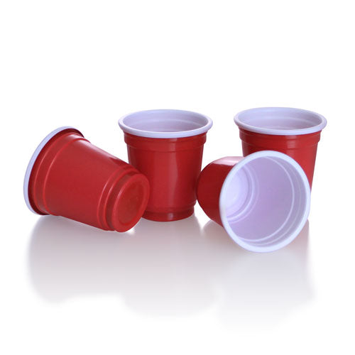 2 oz. Mini Red Plastic Cups