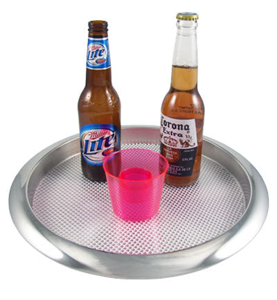 Serving Tray - Stainless Steel RIMMED