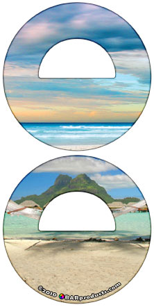 Beach Round Bottle Opener
