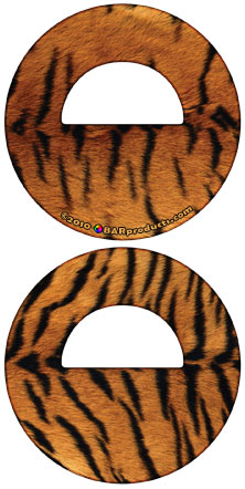 Round Bottle Opener- Tiger Pattern