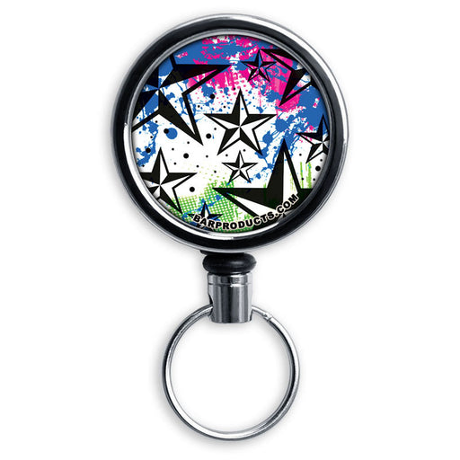 Mirrored Chrome Retractable Reel - Rock Star Blue