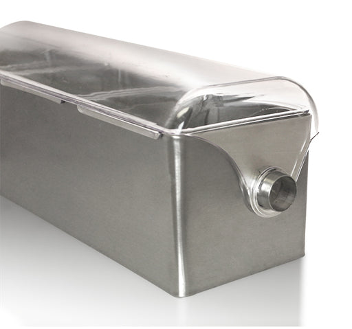 Roll Top Stainless Steel Condiment Holder with Clear Lid