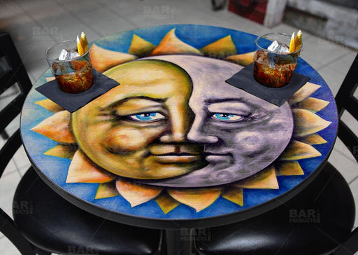 Moon and Sun Round Wooden Table Top - Two Sizes Available