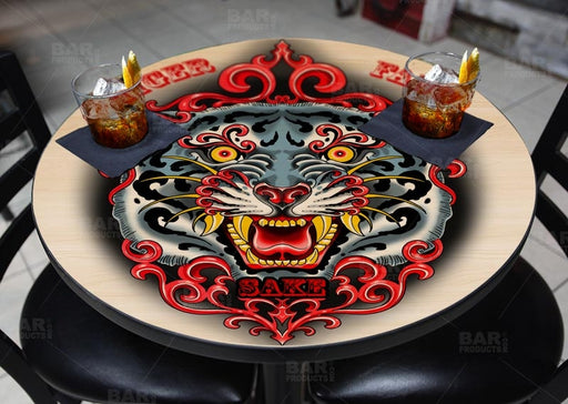 Tiger Fang Sake Round Wooden Table Top - Two Sizes Available