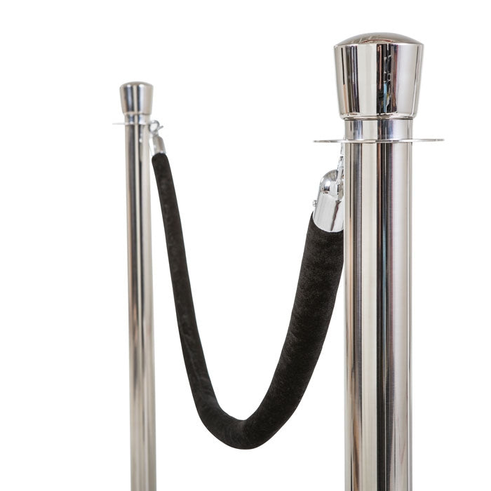 Chrome Stanchion Posts - Set of 2