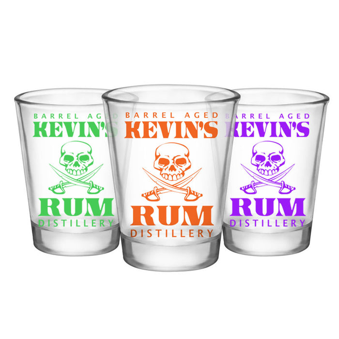 CUSTOMIZABLE - 1.75oz Clear Shot Glass - Rum Distillery
