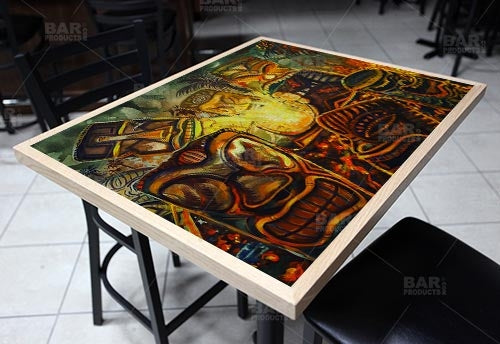 "Tiki Sacrifice 24"" x 30"" Wooden Table Top - Two Types Available"