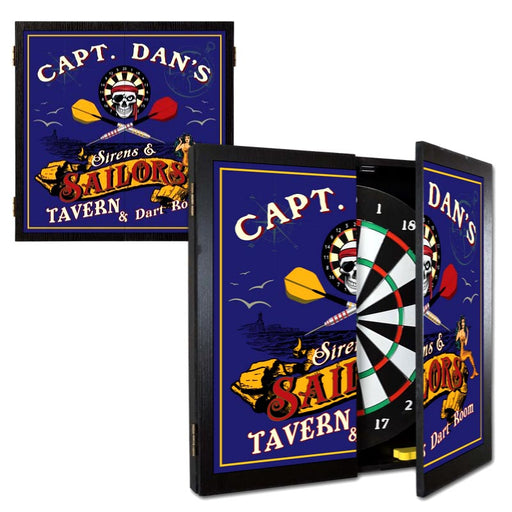 Customizable Sailor Dart Board Cabinet