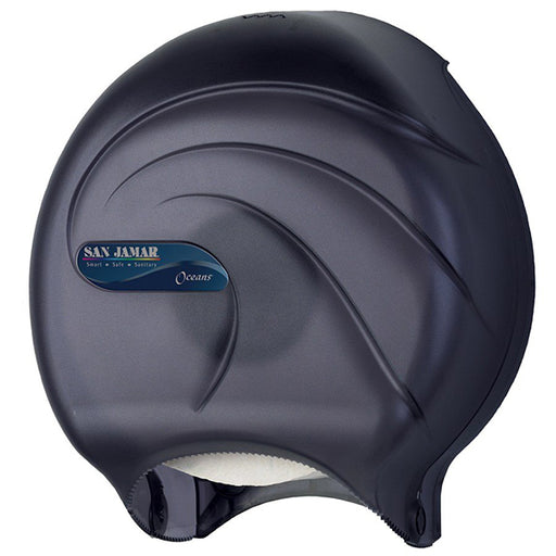 "San Jamar R2090TBK Oceans 9"" Single Roll Jumbo Toilet Tissue Dispenser"