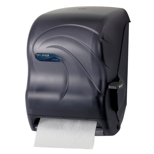 San Jamar Black Lever Roll Paper Towel Dispenser