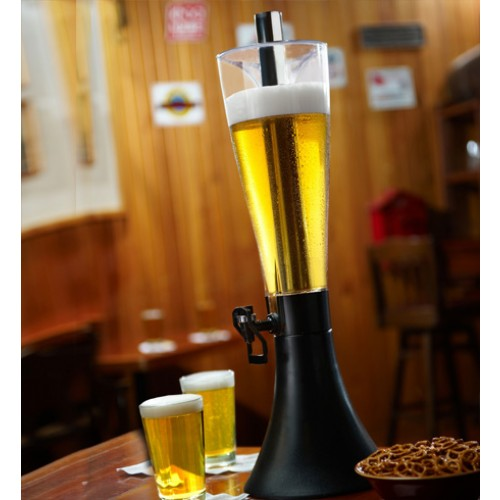 96 ounce Beer Tower with Super Chill Rod and Self Serve Swivel