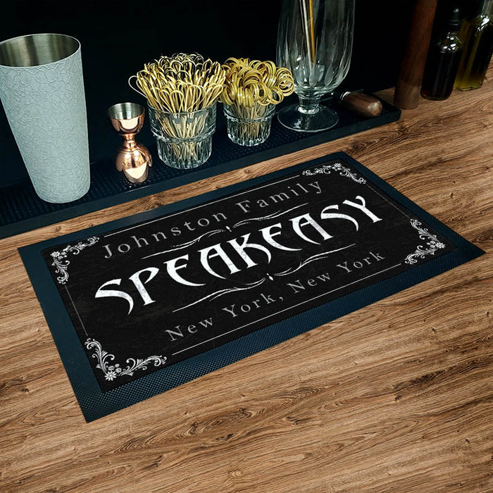 "Custom Printed Bar Service Mat - 17.25"" x 10"""