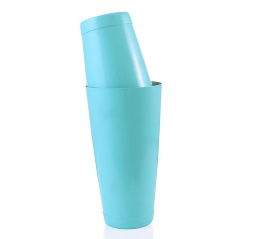 BarConic® Cocktail Shaker Set - 28oz / 18oz Weighted Tins - SeaFoam Blue