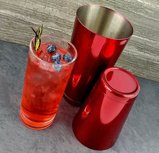 BarConic® Cocktail Shaker Set - 28oz / 18oz Weighted Tins - Candy Red