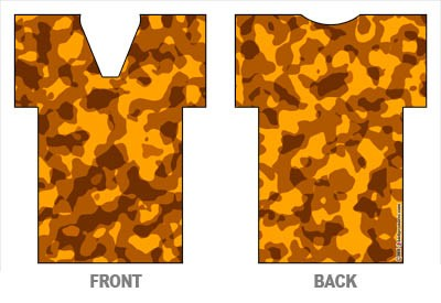 T-Shirt Style Bottle Coozie - Camo Blaze