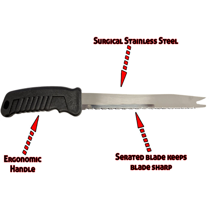 8 Inch Stainless Steel Frozen Food Knife