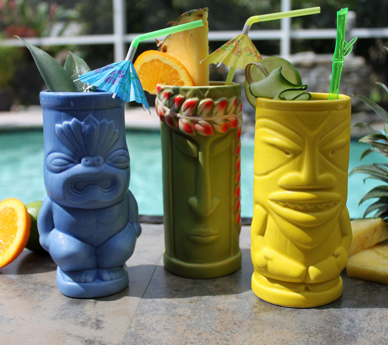 12 oz. BarConic® Leaf Tiki Drinkware – Top