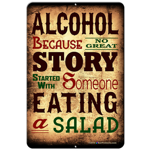 "ALCOHOL Kolorcoat™ Metal Bar Sign - 12"" x 18"""