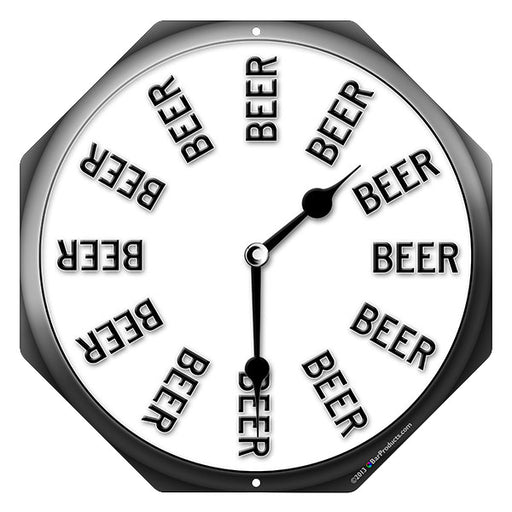 """Beer Thirty"" Clock - Kolorcoat™ Metal Bar Sign"